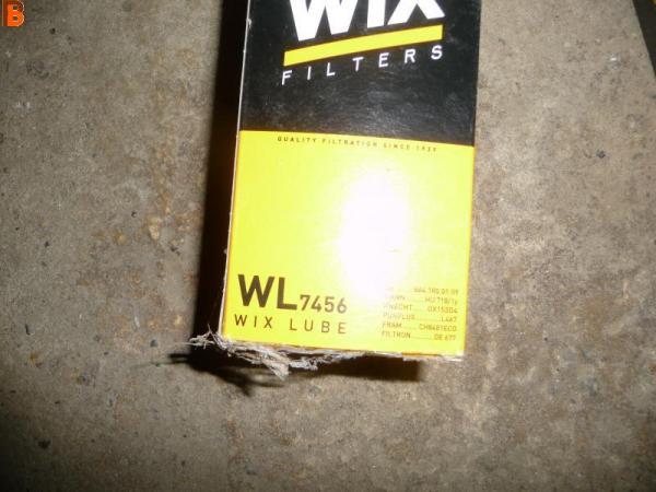 Filtre à huile de WIX wl7456 CHRYSLER MERCEDES